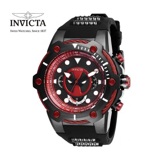 【INVICTA X MARVEL】漫威聯名款 死侍 雙色男士計時腕錶 51.5 mm