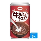 泰山綿密牛奶紅豆330G x6罐【愛買】