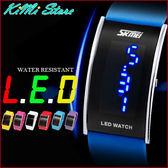 正品SKMEI   弧形鏡面LED手錶 日韓明星最愛必備款 弧型人體工學  男女錶對錶【KIMI store】