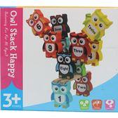 木製貓頭鷹疊疊樂學習積木英文數字一盒入促180 桌遊趣味平衡木玩具YF14521