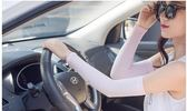 開車手套冰絲袖套夏季遮陽長款防曬袖套戶外騎行防紫外線手臂套  莉卡嚴選