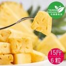有機金鑽鳳梨6粒(共15台斤)-無生長激...