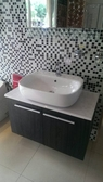 【麗室衛浴】日本INAX  GL-556FC-TW 雅斯檯上盆+面盆龍頭+人造石檯面+防水發泡板浴櫃 僅此一組~出清