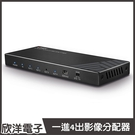 LINDY林帝 HDMI2.0 UHD 18G 4K@60Hz 一進4出影像分配器(38236)