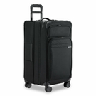 【終身保固 Briggs & Riley 超輕量系列BRUT128CXSP-4】 28吋窄版可擴充TRUNK四輪行李箱(黑)