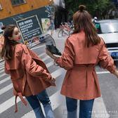 風衣 韓版系帶中長款薄款外套