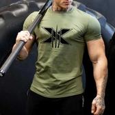 健身T恤運動短袖男肌肉狗兄弟歐美休閒t恤緊身透氣上衣彈力訓練健身體恤非凡小鋪 非凡小鋪