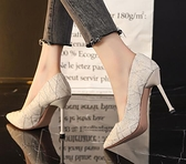 高跟鞋 法式小高跟鞋設計感小眾2021年新款名媛細跟氣質網紅尖頭單鞋秋季【快速出貨八折搶購】