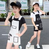 2018新款韓版女孩夏季短褲中大兒童吊帶褲  ys316『毛菇小象』