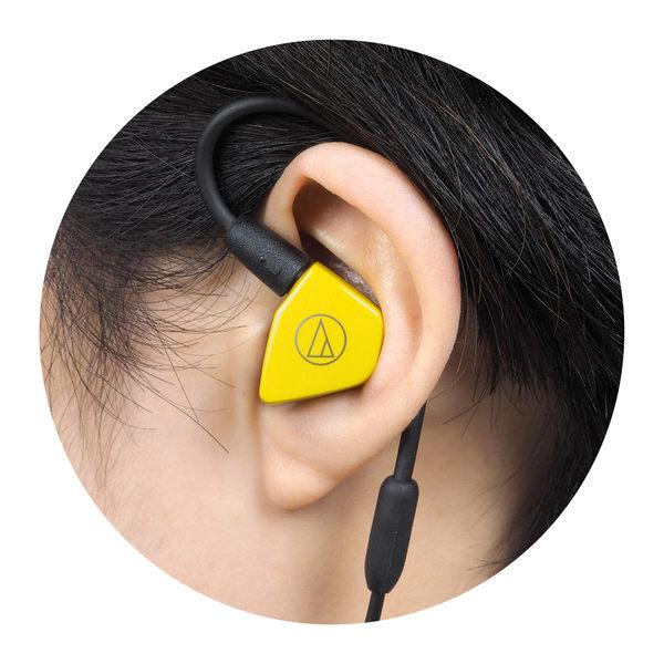 鐵三角 audio technica LS50 可換線 雙單體 動圈 耳道式耳機 黃色 [My Ear 台中耳機專賣店]
