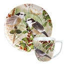 德國Waechtersbach經典彩繪系列390ml馬克杯+21cm盤組-Traditions雙鳥