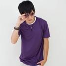 男款3M吸濕排汗T恤 素面T恤 紫色