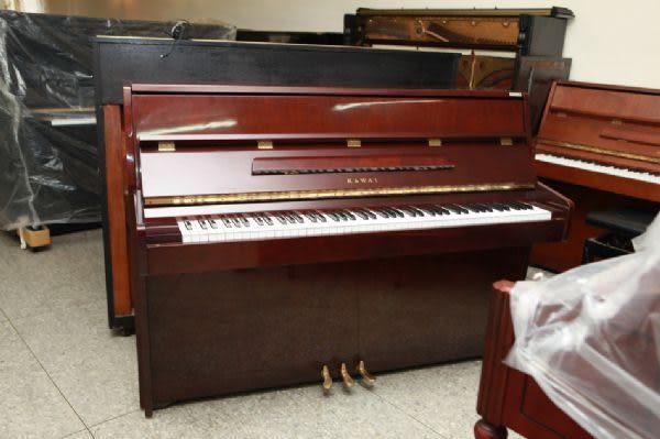 【HLIN漢麟樂器】-日本原裝kawai河合123號直立式中古二手鋼琴-原木-亮黑-豪華32