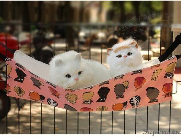 貓吊床 寵物貓墊貓咪鐵籠掛鉤貓窩貓床倉鼠籠吊床大號 貓跳台【快速出貨八折搶購】