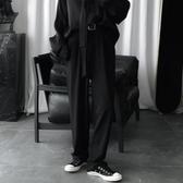 西裝褲短句先生氣質慵懶風垂感褲子男秋季韓版休閒西裝褲直筒拖地褲 晶彩生活