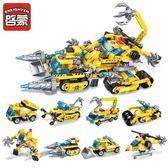 啟蒙兼容積木戰車拼裝玩具7益智8男孩9兒童生日禮物10智力6-12歲5