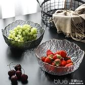 北歐錘目紋玻璃蔬菜水果沙拉碗日式家用創意客廳果盤水果碗點心盆 【全館免運】