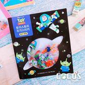 韓國大創 正版迪士尼貼紙 玩具總動員 角色人物 透明貼 貼紙包 裝飾貼紙 60張入 黑款 COCOS DB043