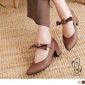 ~SD0233 ~蝴蝶結兩穿瑪莉珍粗跟鞋高跟鞋OrangeBear