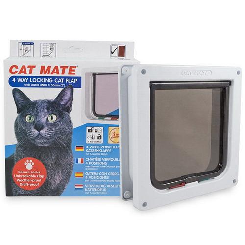 【寵物王國】英國Cat Mate/CA-PT-235W小貓門四段鎖(白)