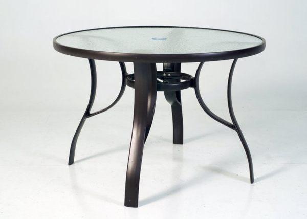 【南洋風休閒傢俱】戶外休閒桌椅系列 - 鋁合金玻璃圓桌椅組 餐桌椅組 戶外桌椅 (A47A66 A110041)
