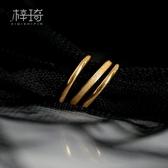 戒指 三生三世食指戒指女鈦鋼18K金是小素圈ins冷淡風網紅時尚個性潮 曼慕衣櫃
