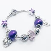 串珠手鍊-琉璃水晶飾品紫色生日情人節禮物女配件73bo55【時尚巴黎】