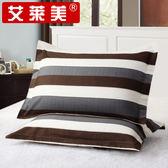 枕頭套-枕套一對裝48x74cm全棉枕套斜紋枕頭套單人枕芯套【年貨好貨節免運費】