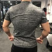 全館83折運動健身緊身衣男運動訓練T恤跑步彈力透氣速干健身服翻領Polo衫