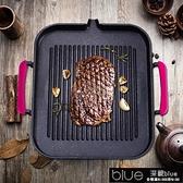烤盤 電磁爐烤盤韓式麥飯石烤盤家用不黏烤肉鍋商用鐵板燒燒烤盤子[【全館免運】]
