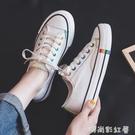 潮流新款帆布鞋女小白鞋2020春季黑色鞋子板鞋女韓版百搭學生布鞋「時尚彩紅屋」