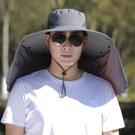 防曬帽男士夏季遮臉釣魚帽遮陽帽子戶外夏天防紫外線漁夫帽太陽帽 3C優購