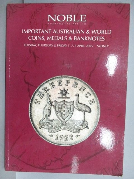 【書寶二手書T7/收藏_PPT】Noble_Important Australian&World…2005/4