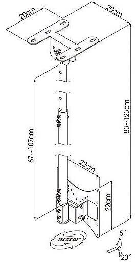 [液晶配件專賣店][CMC-008/AW-008]液晶電視懸吊架.天吊架-27-43吋適用.伸縮旋轉懸掛架