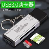 多合一USB3.0高速讀卡器小型手機電腦單反相機U盤SD/TF卡車載車內存大卡通用讀卡器