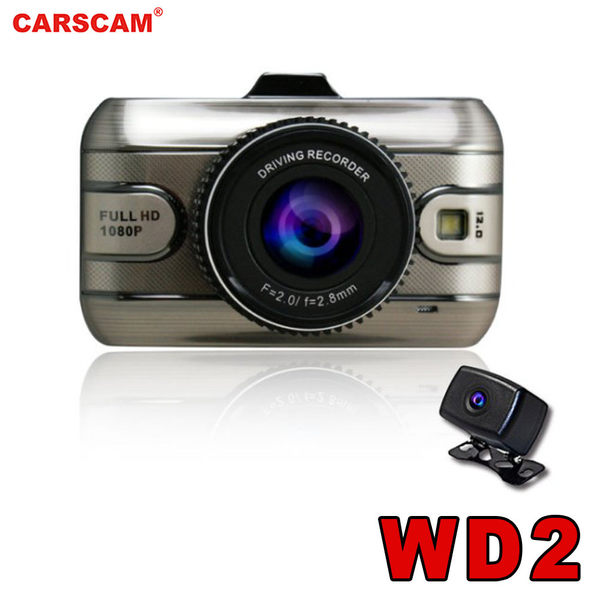 WD2頂級 SONY感光元件雙鏡頭行車記錄器 送 8G記憶卡【CARSCAM】