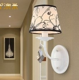 設計師美術精品館澳米現代歐式簡約壁燈美式田園臥室床頭LED燈過道客廳燈KM0055-1W