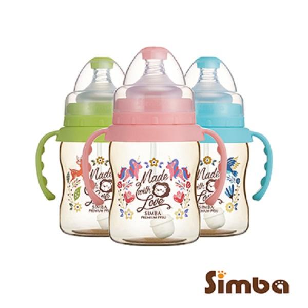 小獅王辛巴 Simba 桃樂絲PPSU自動把手寬口葫蘆小奶瓶(200ml)-3款可選