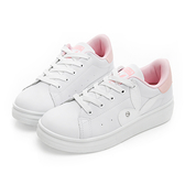 PLAYBOY 簡約仿皮綁帶休閒鞋-白粉