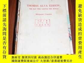 二手書博民逛書店英文版:THOMAS罕見ALVA EDISON: THE MAN