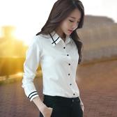 降價兩天 白襯衫女長袖職業秋裝 2020年新款百搭氣質雪紡上衣 洋氣工作服襯衣