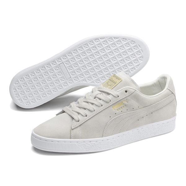 Puma Suede 女 米白 板鞋 平底鞋 休閒鞋 復古 經典 耐久 舒適 滑板鞋 37008102