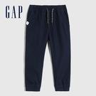 Gap男幼童 簡約風格純色鬆緊休閒褲 600507-藍色