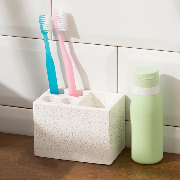 【店長超值推薦6折起】寧靜大地珪藻土牙刷置物座-生活工場