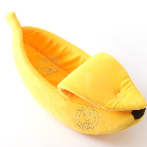 📣此商品48小時內快速出貨🚀》DYY》封閉式香蕉寵物睡窩(大)69cm*25cm*18cm(蝦)