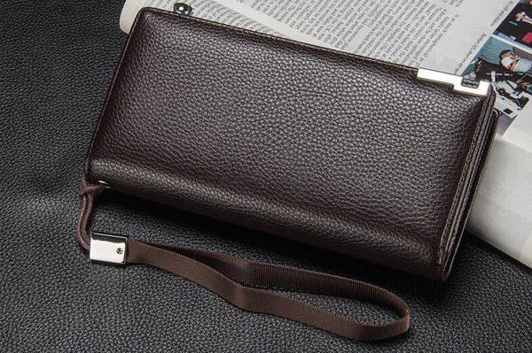 多卡位豎款錢包  男士長款2019新款錢夾手拿包 多功能皮夾手機包商務拉鏈皮夾  搭扣錢包