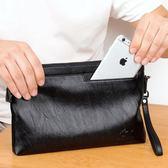 新款男士手包男包大容量手拿包信封包pu軟皮休閒夾包錢包時尚韓版   東川崎町