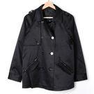 【MASTINA】排釦風衣外套-黑  外...