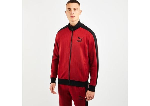 PUMA PINSTRIPE 男款紅色立領外套-NO.53017750