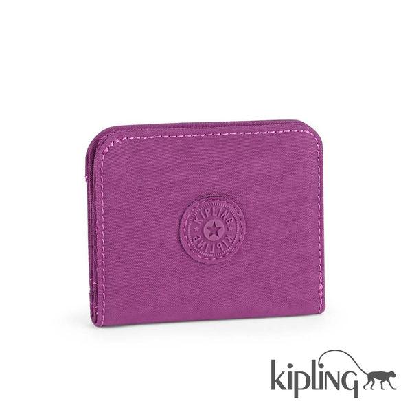 Kipling 葡萄紫素面零錢包-小